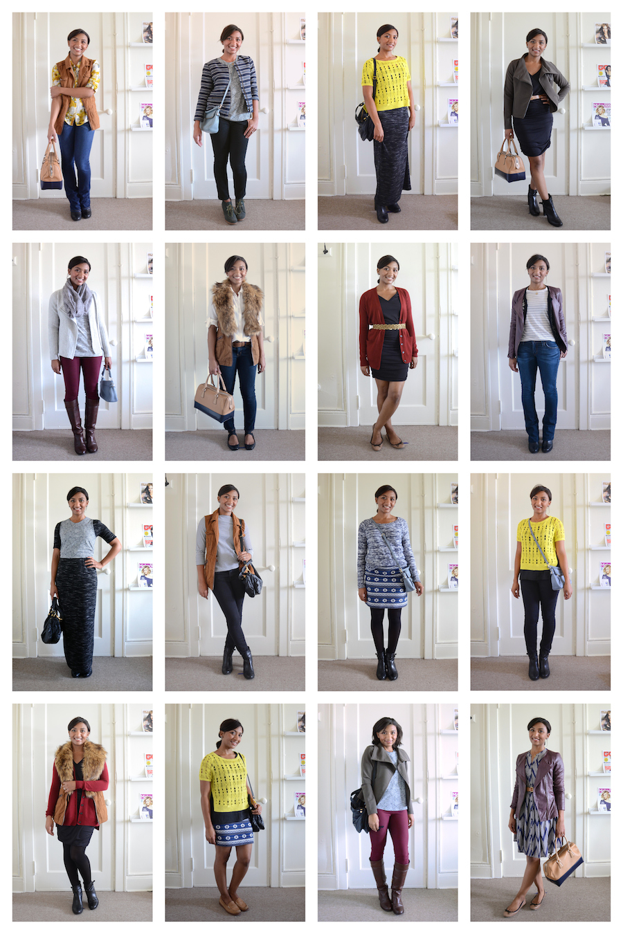 My collection of clothes and accessories is small, but I was able to create  over 30 different outfits! Read on to see what I learned. - Stylebook Closet App: 30 Days Of Fall Outfits